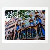 Casa Batllo: Barcelona, … Art Print