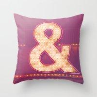 Neon Ampersand Throw Pillow