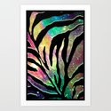 Galaxy Zebra - for iphone Art Print