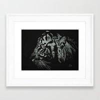 Fierce Tiger Framed Art Print