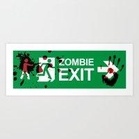 Zombie Exit - Variant Art Print