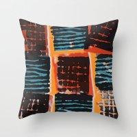 Press Print and Digital Pattern Print Throw Pillow