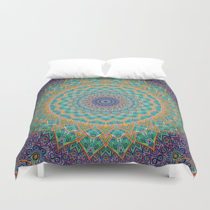 Travel Into Dimensions Duvet Cover By Elias Zacarias