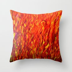 Flames/abstract Throw Pillow