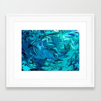 Sea Of No Tranquility  Framed Art Print