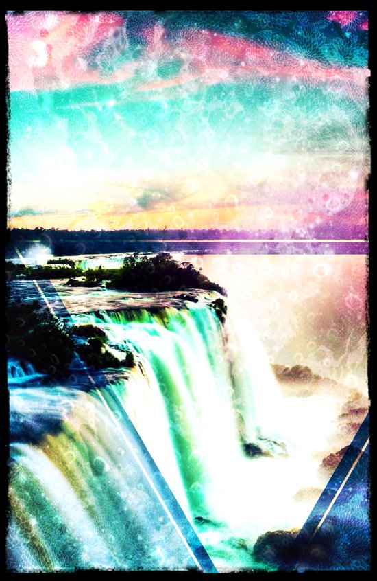Incredible Waterfall - for iphone Art Print