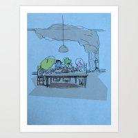 Valium Supper Art Print
