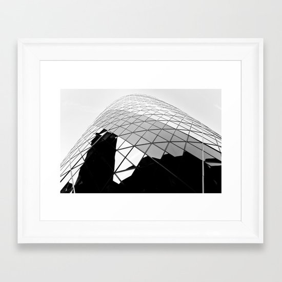 The Gherkin Framed Art Print