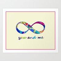 You & Me Infinity Art Print