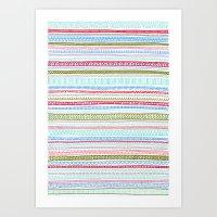 Reddish Pattern Art Print