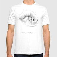 Pleased To Meet You ... Mens Fitted Tee White SMALL