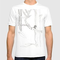 Vine-Swinging Mens Fitted Tee White SMALL