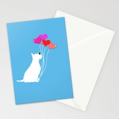 Schnauzer Dog with balloons Stationery Cards
