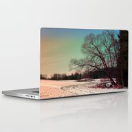 A Snowy Trail And Some T… Laptop & iPad Skin