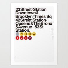 Nº5. Helvetica Posters … Art Print