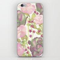 Autumn Bouquet - Kale & Rose iPhone & iPod Skin