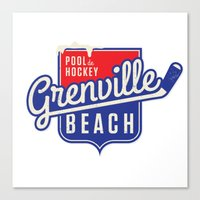 Pool de Hockey Grenville Beach Canvas Print