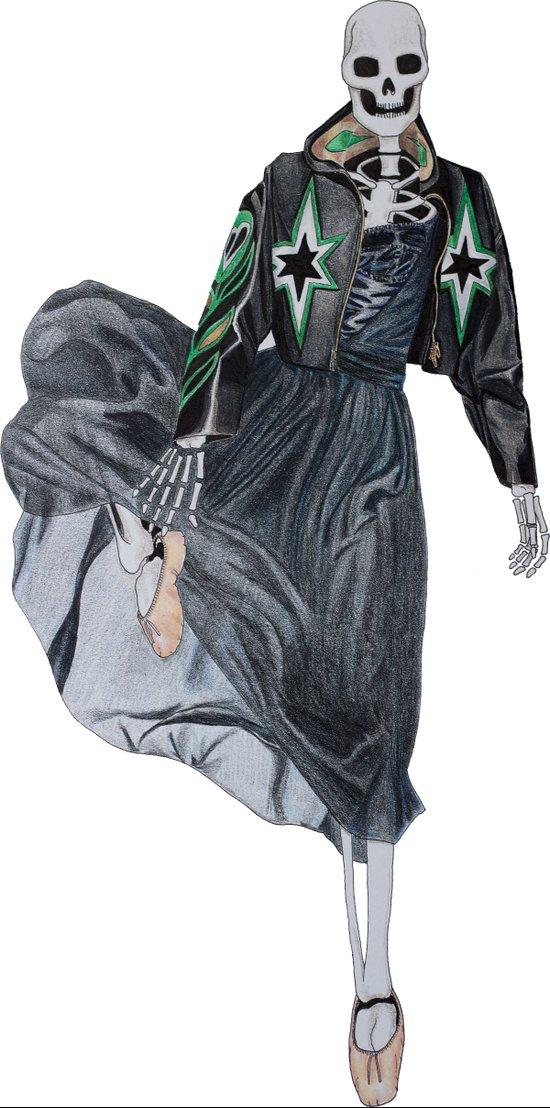leather & ballet skeleton Art Print