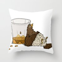 Thirsty Grouse - Colored… Throw Pillow