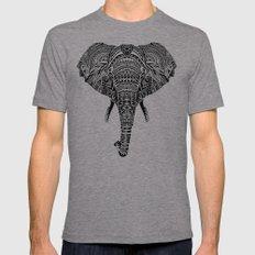 Polynesian Elephant Mens Fitted Tee Tri-Grey SMALL