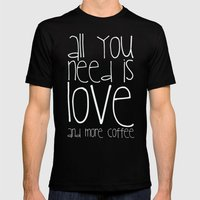 COFFEe Mens Fitted Tee Black SMALL