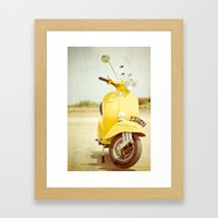 Mod Style In Yellow Framed Art Print