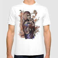 Lara Ink By Carographic,… Mens Fitted Tee White SMALL