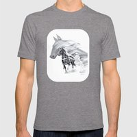 Trotting Up A Storm Mens Fitted Tee Tri-Grey SMALL