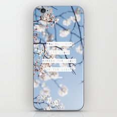 Travel Light, Live Light, Spread The Light, Be The Light iPhone & iPod Skin