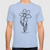 FLOWER Mens Fitted Tee Athletic Blue SMALL