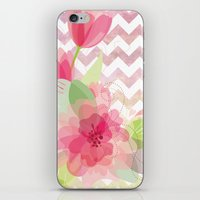 Chevron Flowers iPhone & iPod Skin