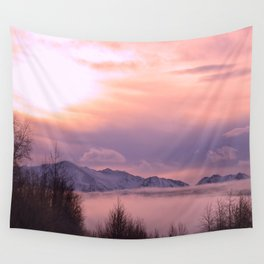 Wall Tapestry - Rose Serenity Winter Fog - Alaskan Momma Bear