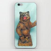 Sexy Hitchhiking Bear Statue iPhone & iPod Skin