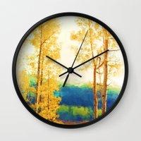 Faded Aspens Wall Clock