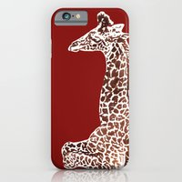 iPhone & iPod Case featuring Giraffe in Red by Sunshine Inspired Designs
