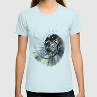 Winding Womens Fitted Tee Light Blue SMALL