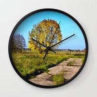 Golden Autumnal Spirit Wall Clock