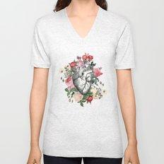 Roses for her Heart Unisex V-Neck