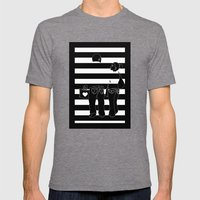 Stripes Mens Fitted Tee Tri-Grey SMALL