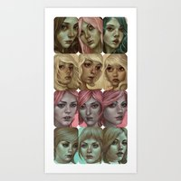 Color Coded Girls Art Print