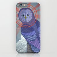 iPhone & iPod Case featuring Great Grey Owl by Miguel Co