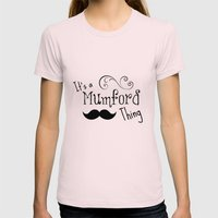 It's a Mumson Thing Womens Fitted Tee Light Pink SMALL