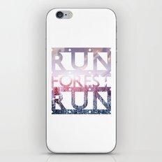 Run Forest Run iPhone & iPod Skin