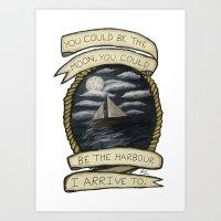 Nautical Drawing Art Print