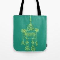 Yellow Robot Tote Bag