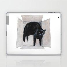 black cat box Laptop & iPad Skin