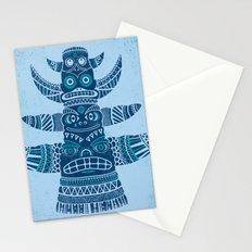 Totem tear - blue Stationery Cards