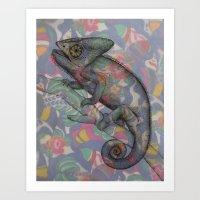 Chameleon(4) Art Print