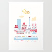 Paris Landscape Art Print