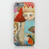 iPhone & iPod Case featuring Your story matter - girl and bird inspirational art by Atelier Susana Tavares